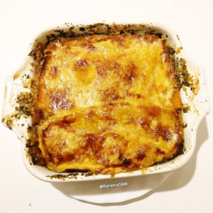 Lasagne with butternut squash sheets