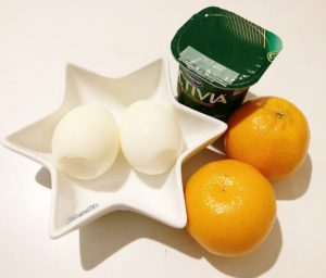 Boiled Eggs, Clementines & Activia 0%