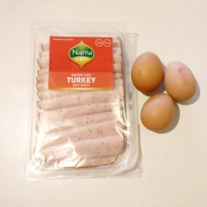 Turkey & Egg Cup Ingredients