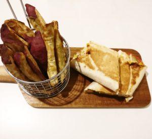 BBQ Pulled Chicken w/ Sweet Potato Chips