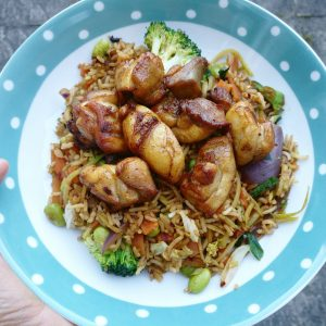 Fried Rice with Salt & Pepper Chicken