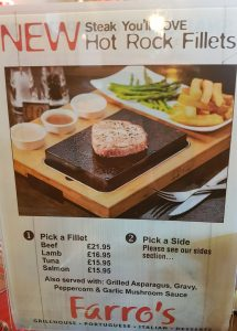 farro's steak options