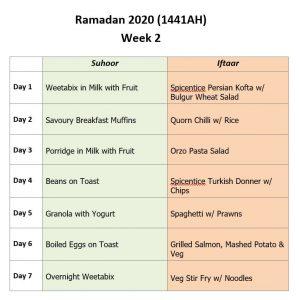 Ramadan Planner Week 2